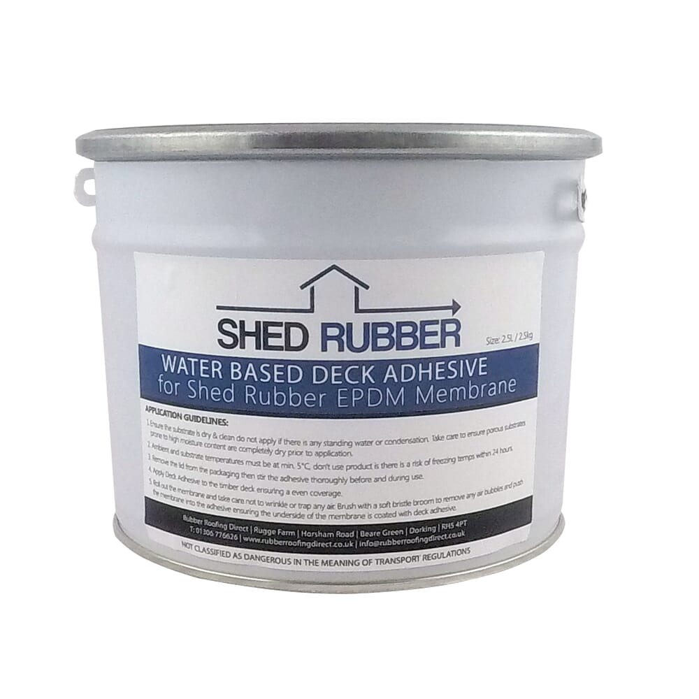 Image 2: Shed Rubber Water Based Deck Adhesive