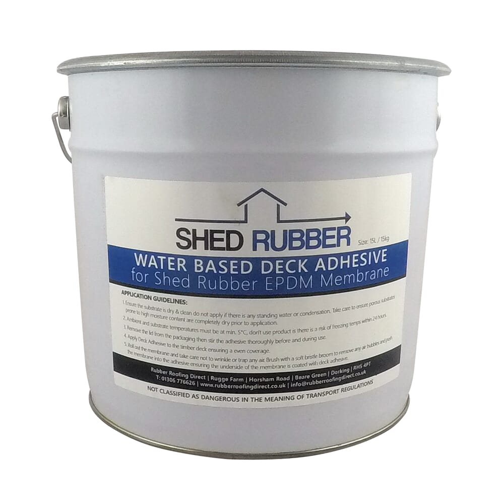 Image 6: Shed Rubber Water Based Deck Adhesive