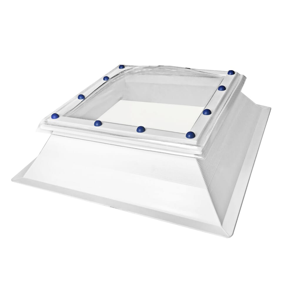 Image 1: Fixed Polycarbonate Rooflight Dome And Kerb