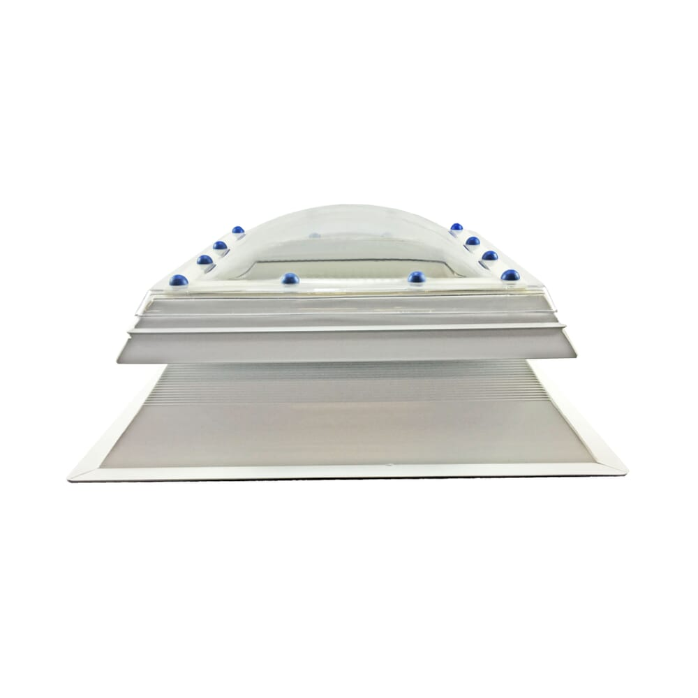 Image 5: Fixed Polycarbonate Rooflight Dome And Kerb
