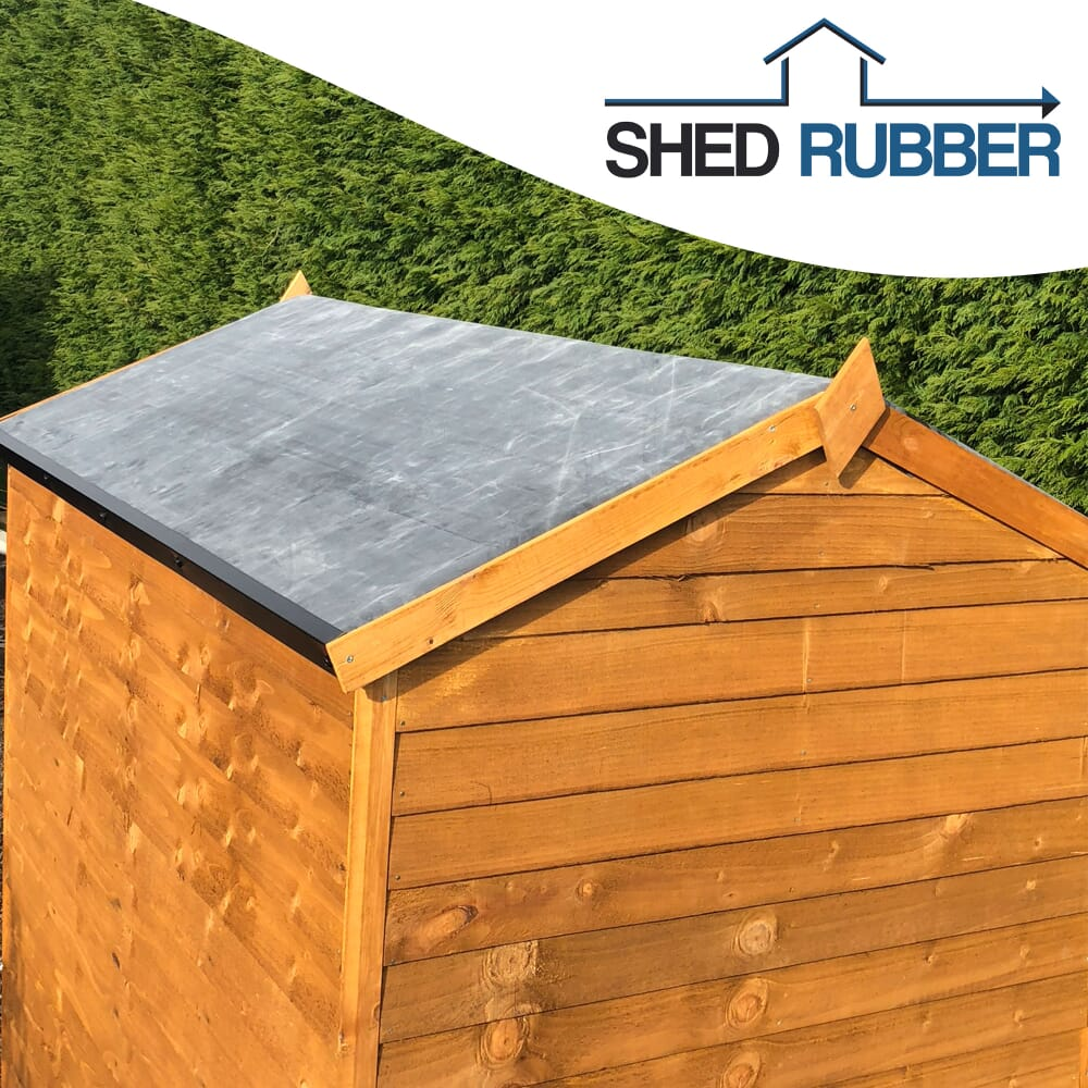 Image 2: Brown Shed With A Rubber Roof