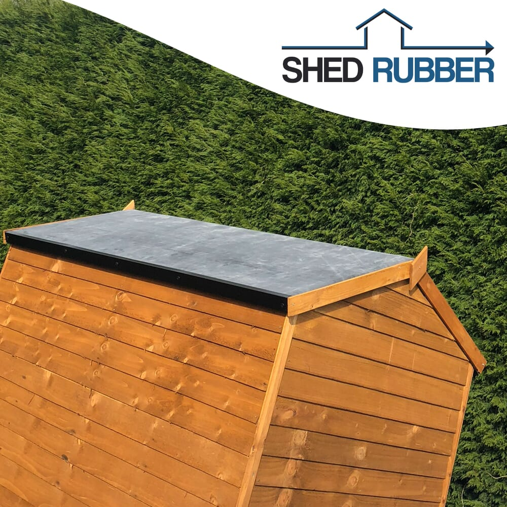 Image 3: Brown Shed With A Rubber Roof