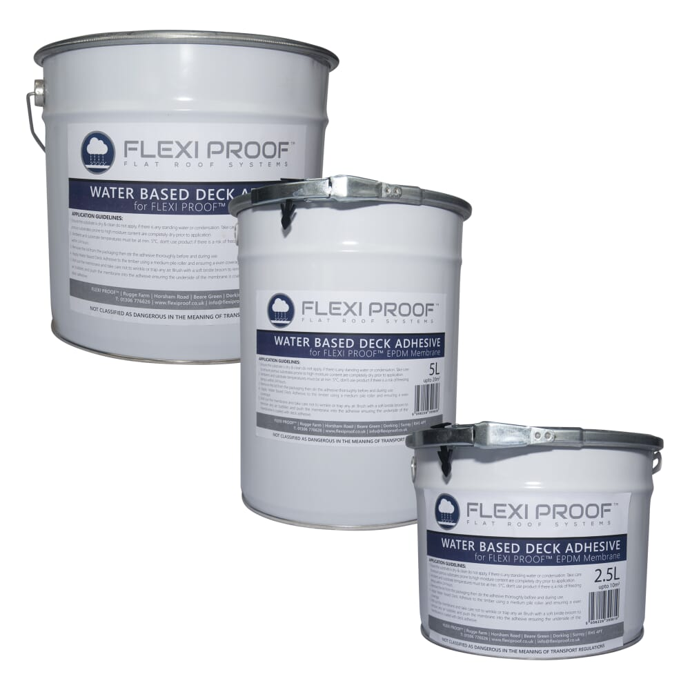 group flexiproof water based deck adhesive